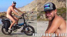 Cycling on Nude Beach | Black's Beach | Nudist Video - FullFrontal.Life