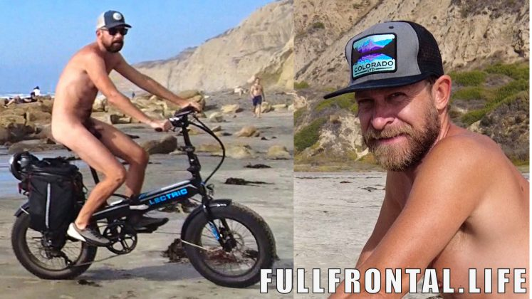 Cycling on Nude Beach   Black's Beach   Nudist Video - FullFrontal.Life