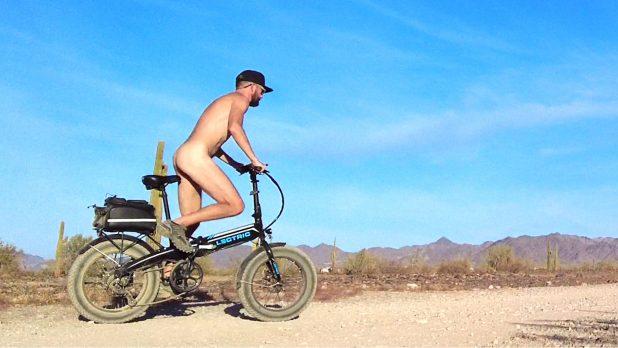 Nude Cycling in the Magic Circle   Leaving Quartzsite   Tucson Snow
