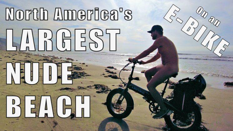 E-BIKES on NUDE BEACH | North America's Largest Clothing-Optional Beach | Black's Beach - FullFrontal.Life
