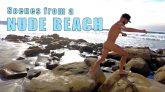 Nude Men Walk on Clothing-Optional Beach